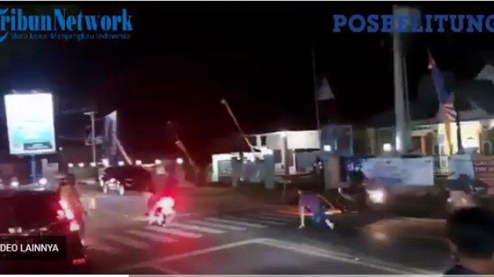 Video Ajudan Bupati Belitung Timur Jatuh Terjungkal Saat Kejar Pengendara Motor Tak Bermasker