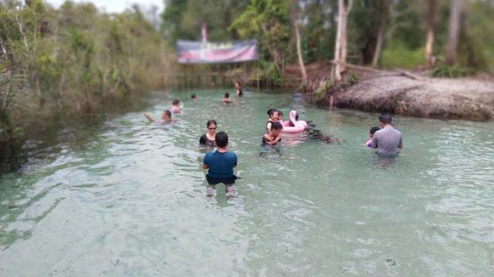 Aek Lelap Bedelew di Mantung Belinyu Kabupaten Bangka. Foto diambil Minggu (6/9/2020)