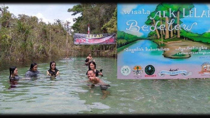 OBJEK Wisata Aek Lelap Bedelew 'Mutiara Wisata Utara Pulau Bangka'