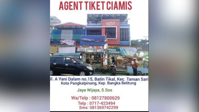 Peniadaan Mudik Berakhir, Agen Tiket Ciamis Sebut Pesanan Tiket Rute Pangkalpinang Jakarta Full