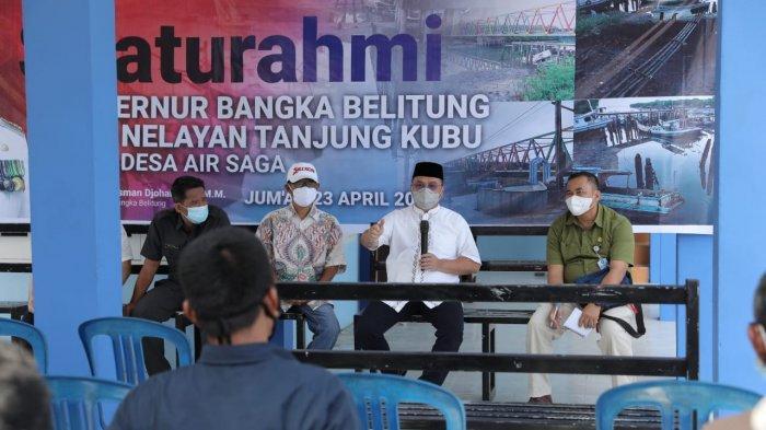 Bertemu Warga Nelayan Desa Air Saga, Gubernur Bangka Belitung Berikan Solusi Pasti