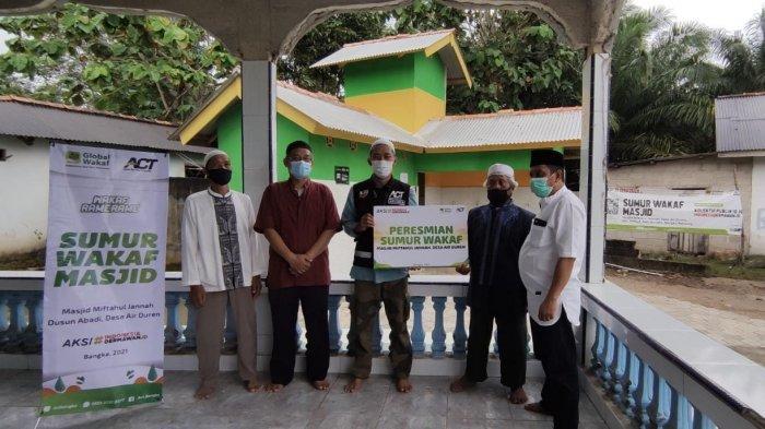 ACT Bangka ResmikanSumur Wakaf di Masjid Miftahul Jannah