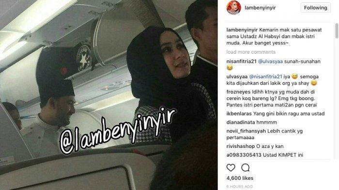 Al Habsyi dan Istri Mudanya Terlihat Makin Mesra