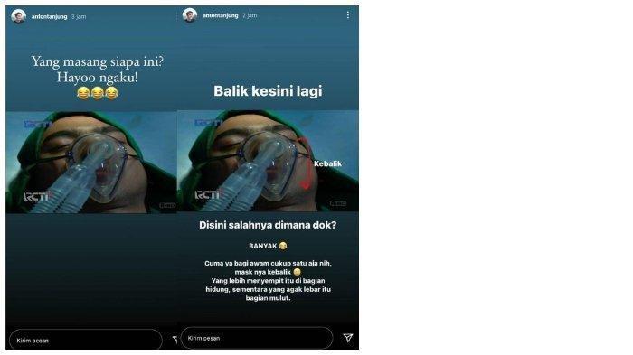 Anton Tanjung kritik scene salah pasang alat bantu pernafasan di sinetron Ikatan Cinta.