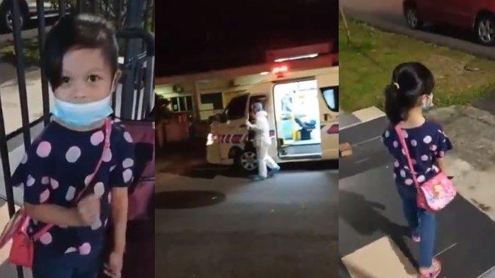 'Bye Mama', Anak 5 Tahun ini Naik Ambulans Sendirian untuk Karantina, Videonya kini Viral