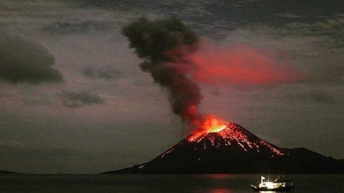 Aktivitas Gunung Anak Krakatau Meningkat, dari 58 kali Gempa jadi 67 kali Gempa Letusan