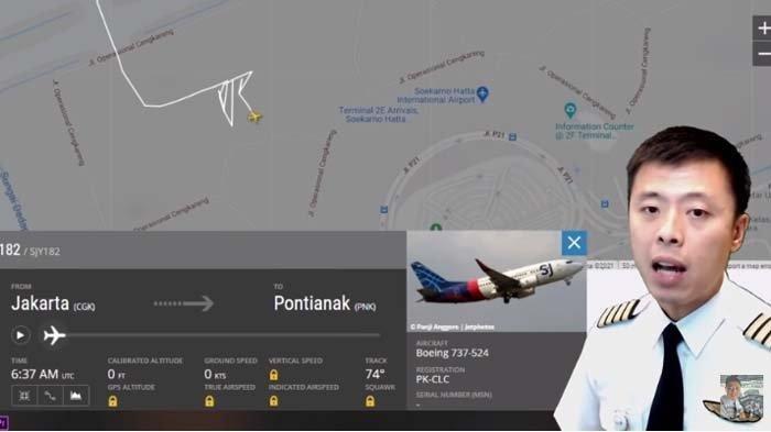 Analisa Captain Vincent Raditya soal Data Sriwijaya Air SJ 182 di flightradar24