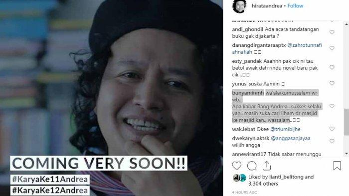 Karya Terbaru Andrea Hirata Bakal Terbit Awal 2019, Ada yang Bongkar Soal Ini