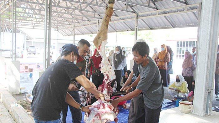 Dua Sapi Kurban di DPRD Kabupaten Bangka, Berkurban Wujud Kepedulian Kepada Sesama