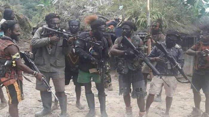 Anggota KKB Papua pamer senjata