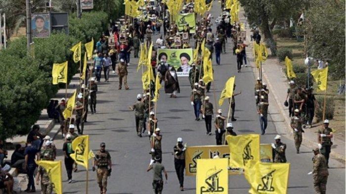 Milisi Syiah Lakukan Konvoi Bersenjata di Baghdad, Lengkap dengan Senjata Mesin dan Peluncur Roket