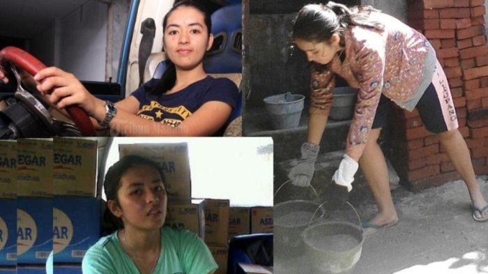 Mahasiswi Cantik Jadi Sopir Angkot dan Kuli Bangunan
