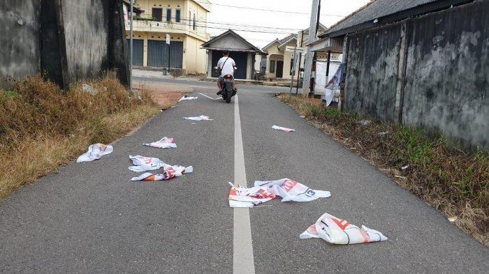 Joy 'Gerah', APK Hanura Rusak dan Beserakan di Jalan Angsana Toboali
