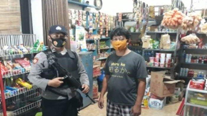 Polsek Pemali Patroli Pantau Kawasan Pertokoan dan Pasar Hieginis