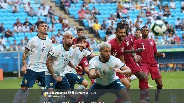 Gol Aguero dan Martinez ke Gawang Qatar Antar Argentina ke Perempat Final Copa America 2019