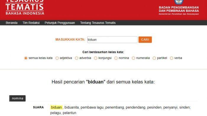 BIDUAN Itu Laki-laki atau Perempuan? Begini Penjelasan Kamus Bahasa Besar Indonesia