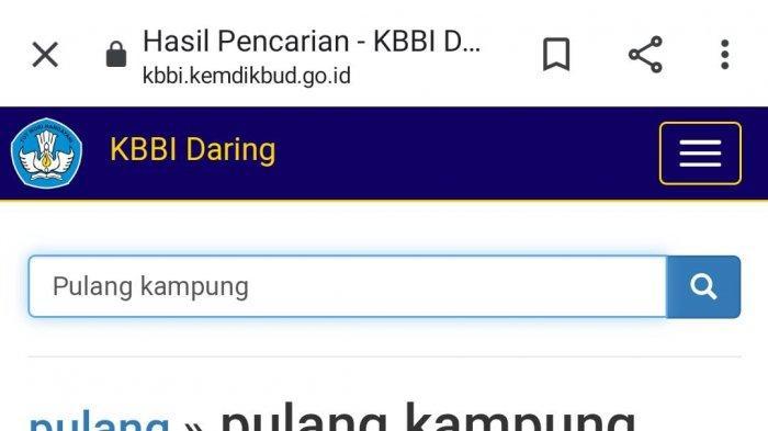 Mudik Dan Pulang Kampung Beda Atau Sama Begini Artinya Menurut Kamus Besar Bahasa Indonesia Bangka Pos