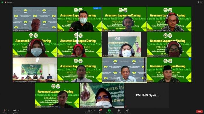 BAN-PT Lakukan Asesmen Lapangan Daring (Online) Prodi PBA IAIN SAS Bangka Belitung