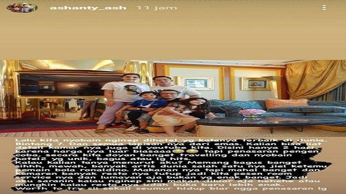 Ashanty dan Keluarga nginap di Hotel Mewah Burj Al Arab di Dubai