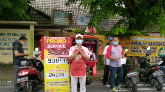 ASP Pangkalpinang Gelar Service Motor Murah dan Diskon Program GEMPITA di Kantor Kecamatan Tamansari