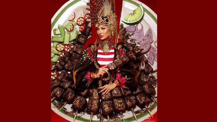 Kostum Sate Viral, Ini Profil Aura Kharisma Wakil Indonesia di Miss Grand International