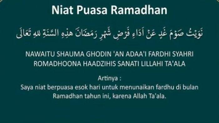 Bacaan Niat Puasa Ramadhan, Bolehkah Membaca Niat Puasa Satu Kali di Awal BulanRamadhan?