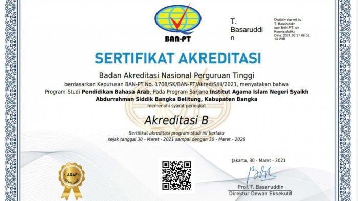 Visitasi Perdana, PBA IAIN SAS Bangka Belitung Raih Akreditasi B BAN-PT untuk Pertama Kali