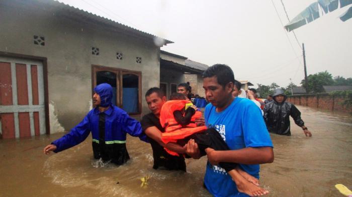 Potret Banjir Melanda Ibu Kota Provinsi Bangka Belitung