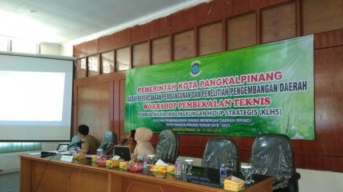 Bappeda Gelar Bimtek Pembuatan KLHS RPJMD Kota Pangkalpinang