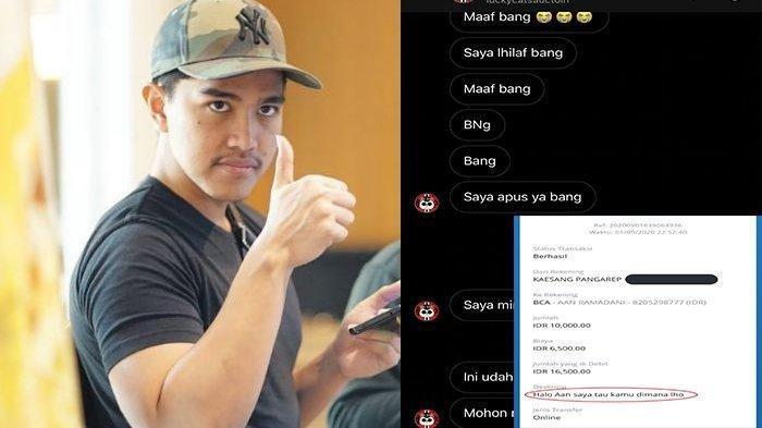 Kisah Kaesang Putra Persiden Kesal Nomor Telpon Diblokir saat Hendak Belanja Online ke Penipu