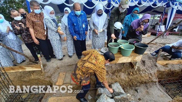 Peletakan Batu Pertama Pembangunan Sekretariat PD IBI Babel, Wagub Minta Tingkatkan Pelayanan