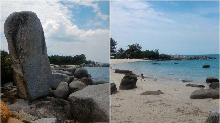 Uniknya Pantai Siangau di Negeri Sejiran Setason, Ada Batu Panjang Berdiri Tegak