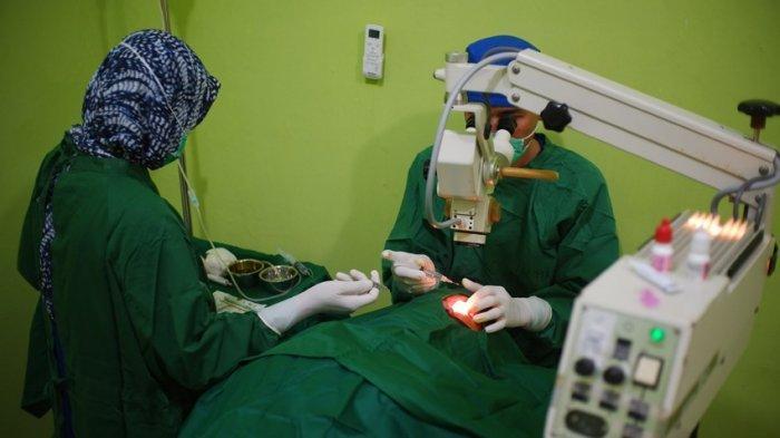 Baznas Bangka Belitung Jalin Kerjasama dengan Klinik Mata Bakti Timah Jalankan Operasi Katarak