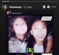 Begini Rupa Luna Maya Saat Masih SMP, Sebegitu Miripkah dengan Dea Imut? - Potret Luna Maya dan Paula Ola.