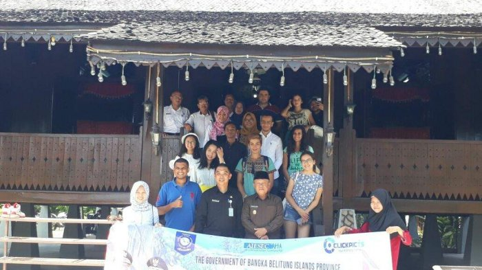 Mahasiswa dari 10 Negara Promosikan Pariwisata Negeri Laskar Pelangi