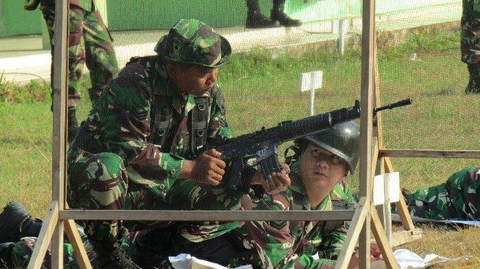 Tingkatkan Kemampuan Prajurit, Korem 045/Garuda Jaya Gelar Latihan Menembak