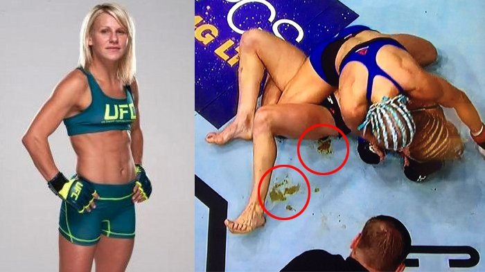 Dijepit Lawannya di Atas Ring, Atlet Wanita Ini Tak Cuma Kalah, Tapi Keluar Sesuatu dari Celananya