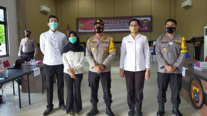 Ratusan Anggota Polres Bangka Barat Jalani Vaksinasi Tahap Dua, Kapolres: Tak Perlu Takut Divaksin