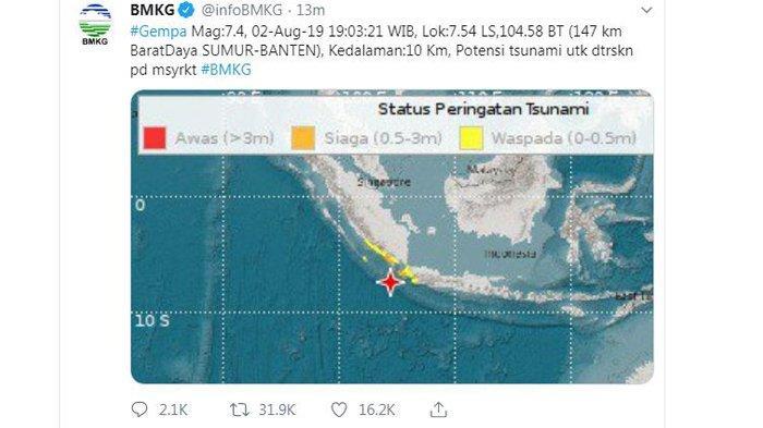 Gempa 7,4 di Banten, Warga di Pusat Perbelanjaan Tasikmalaya Panik Turuni Tangga, Ini Doa saat Gempa