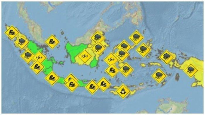 12 Daerah Hujan Lebat Disertai Petir, BMKG Beri Peringatan Dini Cuaca Ekstrem Jumat 31 Juli 2020
