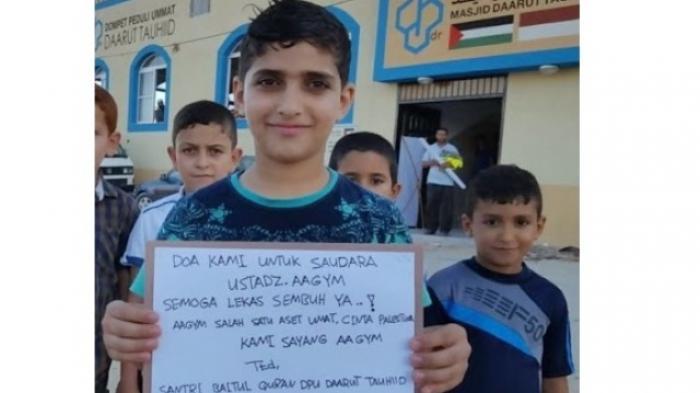 Ketika Bocah-bocah di Gaza Pun Ikut Mendoakan Kesembuhan Aa Gym