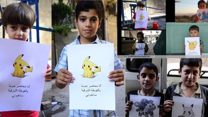 Pesan Mengharukan Anak-anak Suriah, Mereka Jadi 'Pokemon Go' Agar Bisa Diselamatkan