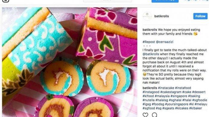 Bolu Gulung 'Rasa' Batik Khas Indonesia, Perlu kah Pengusaha Singapura Ini Bayar Royalti?