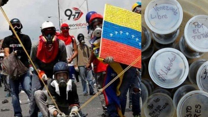 Krisis Ekonomi Semakin Buruk, Rakyat Venezuela Bikin Bom Tinja untuk Lawan Senjata Polisi