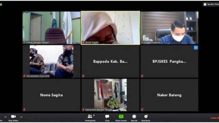 BPJS Kesehatan Pangkalpinang Gelar Forum dengan Pemkab Bangka Tengah Melalui Video Conference