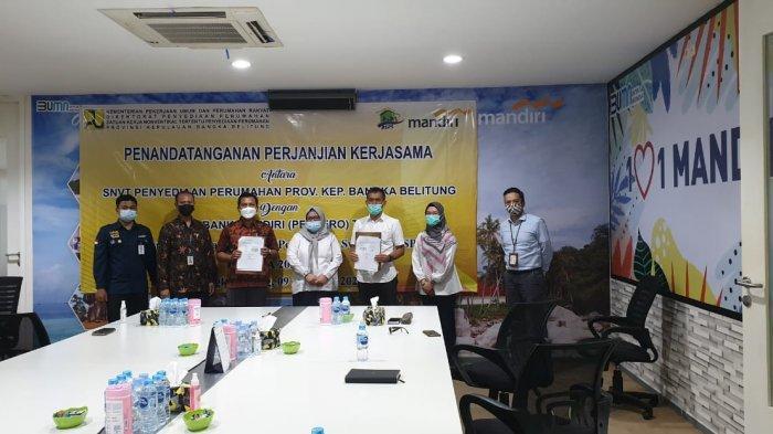 Penyaluran BSPS 2021 di Bangka Belitung melalui Bank Mandiri