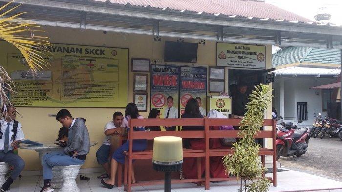 Syarat Daftar Polri, Siswa Ramai-ramai Buat SKCK di Polres Pangkalpinang