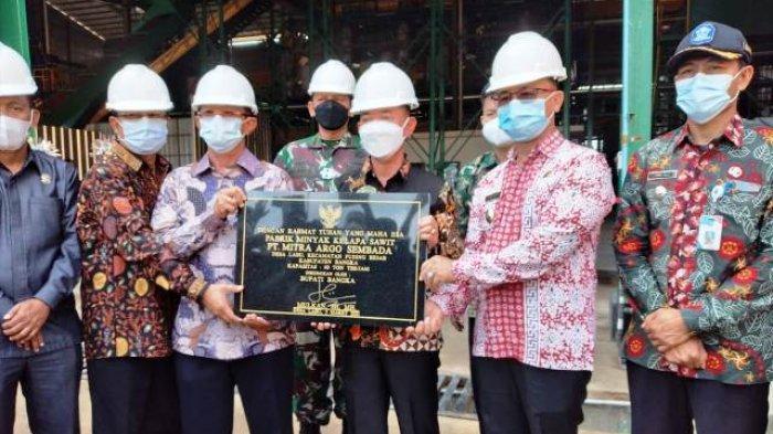 Resmikan Pabrik PT MAS, Mulkan: Alhamdulillah Masyarakat Mulai Rasakan Kenikmatan Punya Kebun Sawit