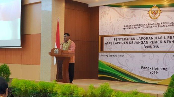 Bupati Belitung Curhat 11 Kali Hadir Terima LHP dari BPK, Baru Satu Kali Raih WTP