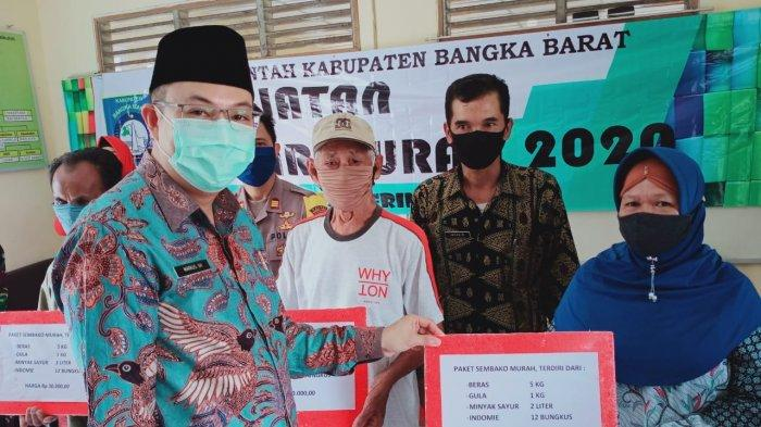 Warga Bangka Barat Terbantu Program Pasar Murah, Kades Belo Laut Ibnu Apresiasi Kepedulian Pemda